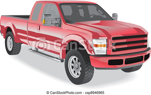 Pick-up truck red - csp8946965