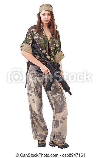woman in military uniform - csp8947161