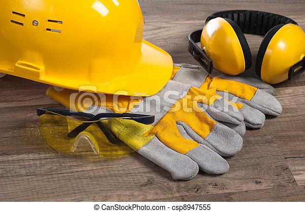 fim, equipamento, segurança, cima, Engrenagem - csp8947555