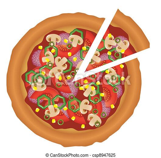 tasty pizza - csp8947625