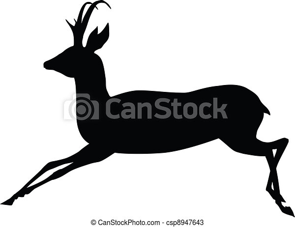 Antelope Line Drawing Vector Vector Antelope
