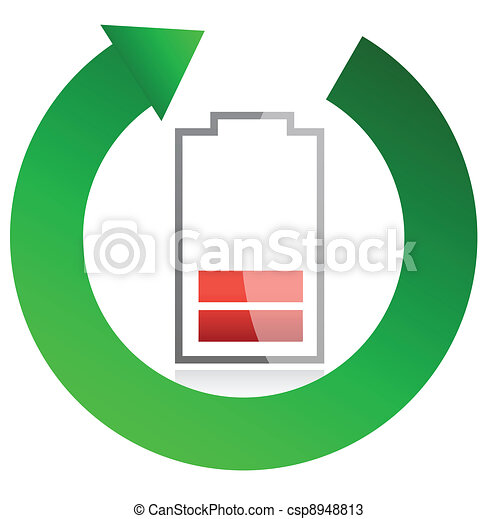 battery recycling concept - csp8948813