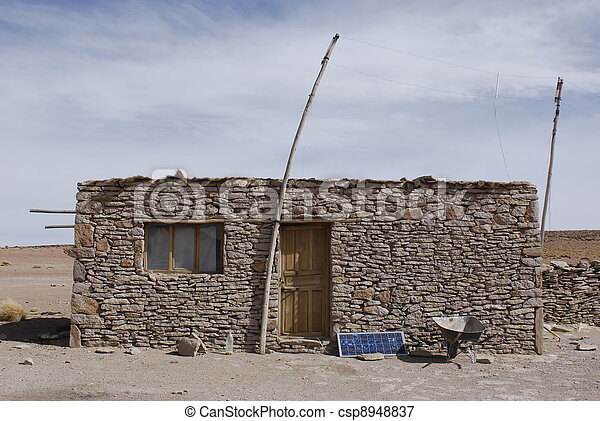 the old house in  the Altiplano - csp8948837