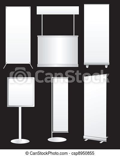 Blank Promotion Stand set - csp8950855
