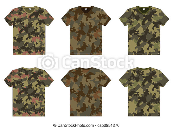 Men's Military T-Shirts v-neck - csp8951270