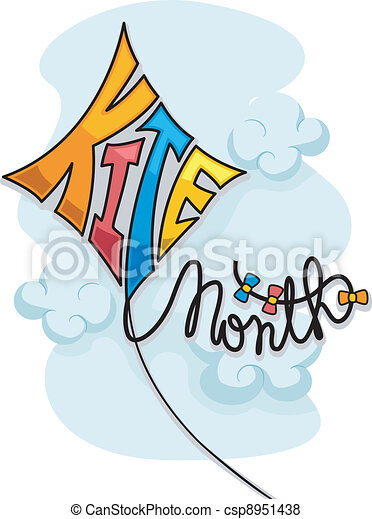 Kite Month - csp8951438