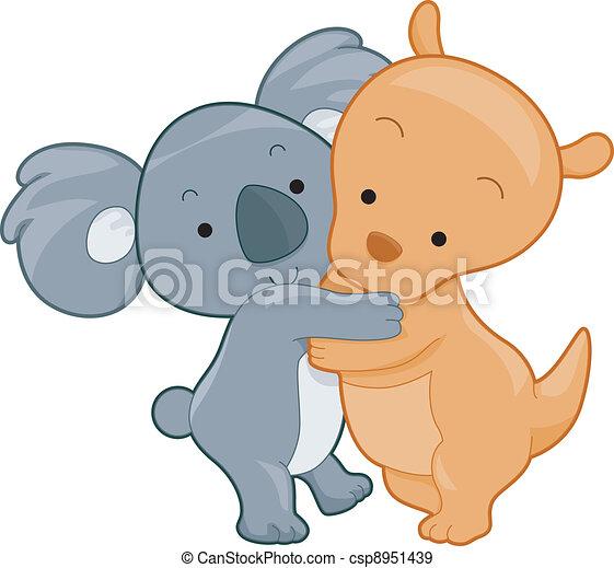 Koala and Kangaroo - csp8951439