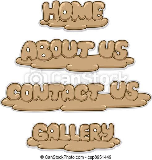 Clay Sculpture Buttons - csp8951449