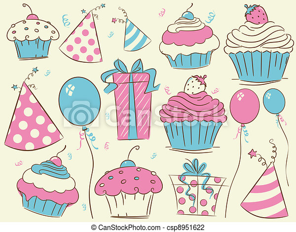 Birthday Design Elements - csp8951622