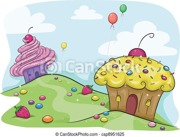 Cupcake Land - csp8951625