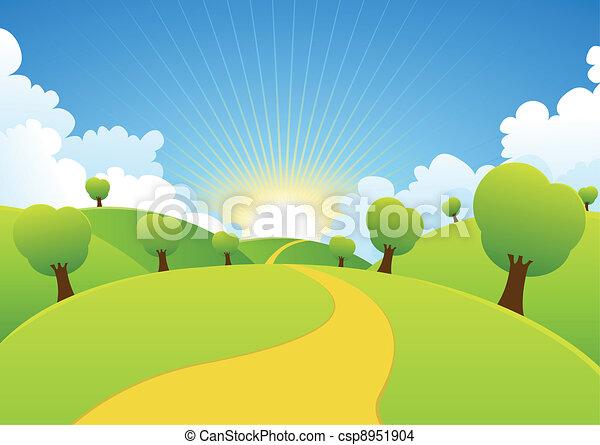 Spring Or Summer Seasons Rural Background - csp8951904
