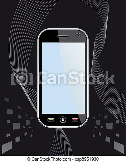 Generic Smart Phone on black - csp8951930