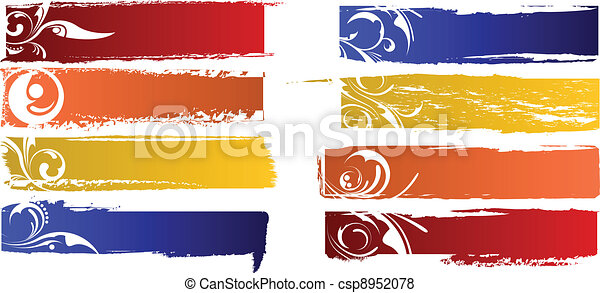 vector color banners set - csp8952078