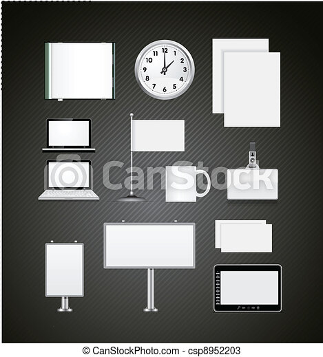 Set of corporate identity templates vector illustration - csp8952203