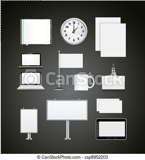 Set of corporate identity templates vector illustration - csp8952203