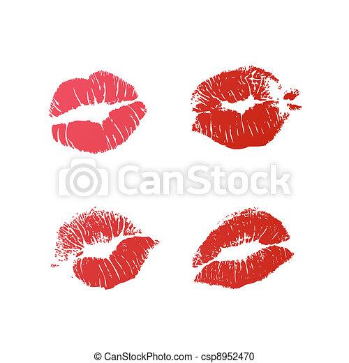 lipstick marks - csp8952470