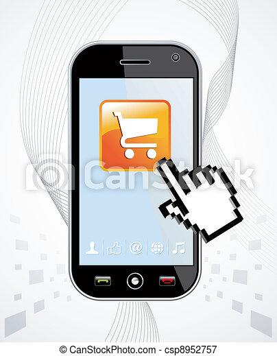 Smartphone buy application - csp8952757