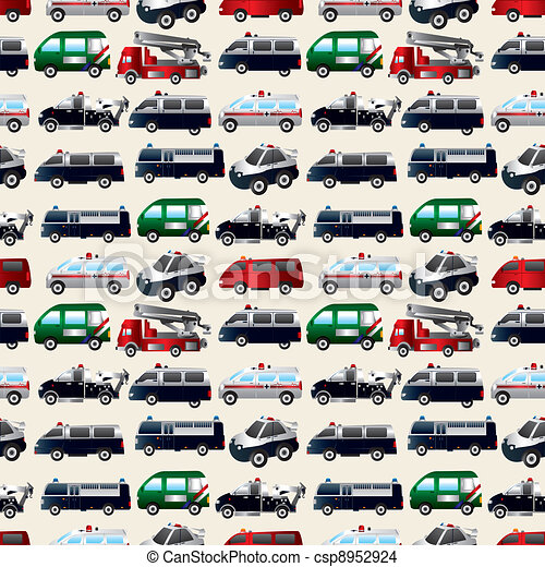 different types car seamless pattern - csp8952924