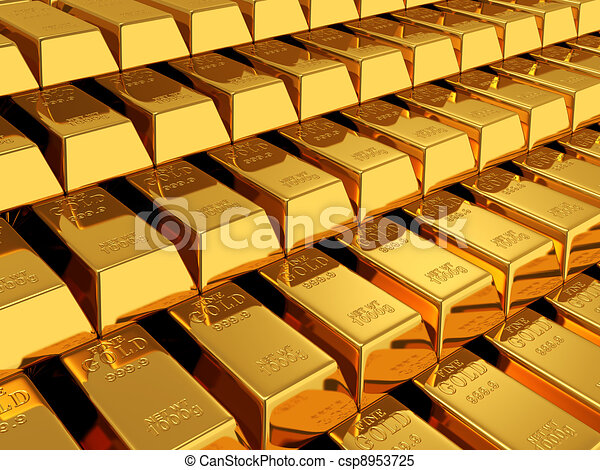 gold bars - csp8953725