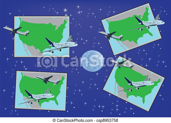 Airline postcard - csp8953758