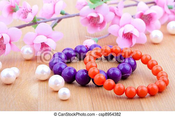 photo de rose multi fleur perles couleur corail artificiel csp8954382 recherchez des. Black Bedroom Furniture Sets. Home Design Ideas