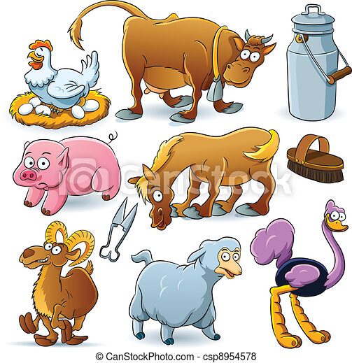 Farm Animals Collection - csp8954578