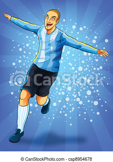 Soccer Player Celebrating Goal - csp8954678