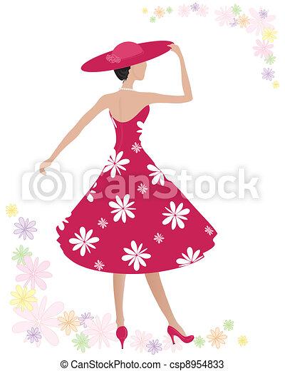 summer dress - csp8954833