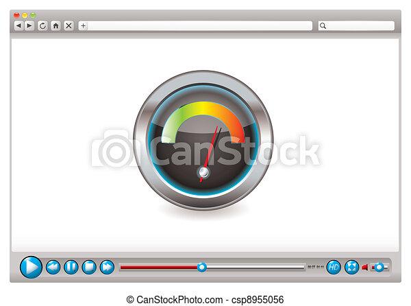 Web video browser speed - csp8955056