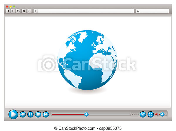 Web video browser world - csp8955075