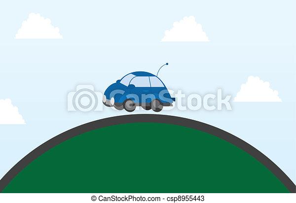 Car on a hill  - csp8955443