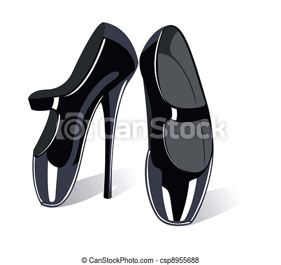 Vector extreme fetish ballet shoes  - csp8955688