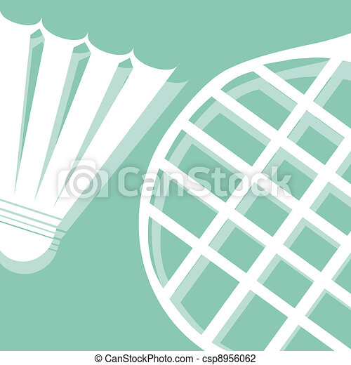 badminton pictogram - csp8956062
