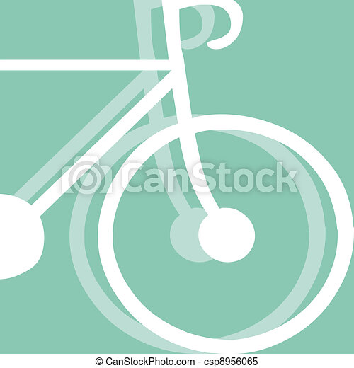 bicycling pictogram - csp8956065