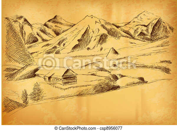 mountain picture - csp8956077