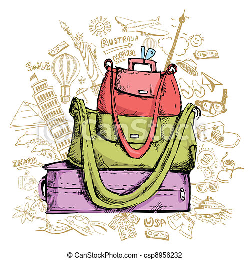 Travel Doddle with Luggage - csp8956232