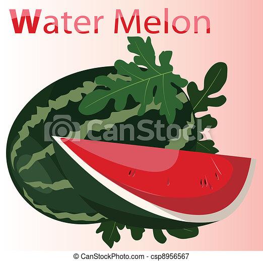 Illustration of Fresh Watermelon - csp8956567