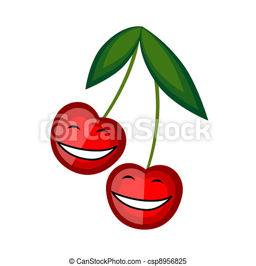 Funny fruits smiling together for your design - csp8956825