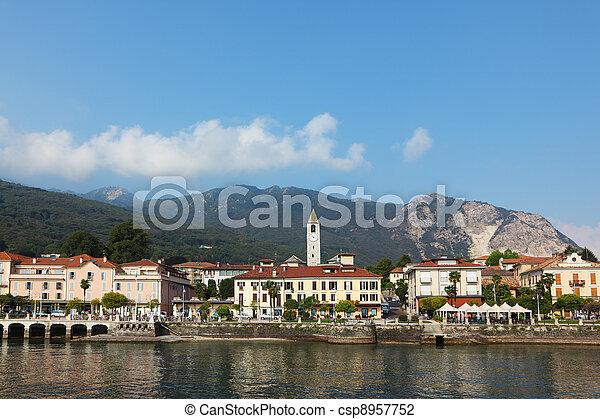 Magnificent resort city on the lake  Maggiore - csp8957752