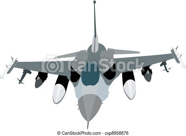 Military jet - csp8958876