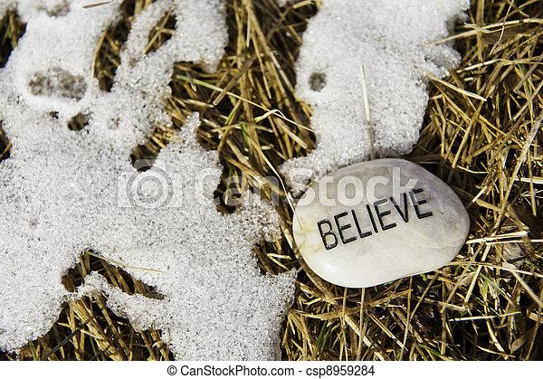 Believe in Spring's Arrival - csp8959284