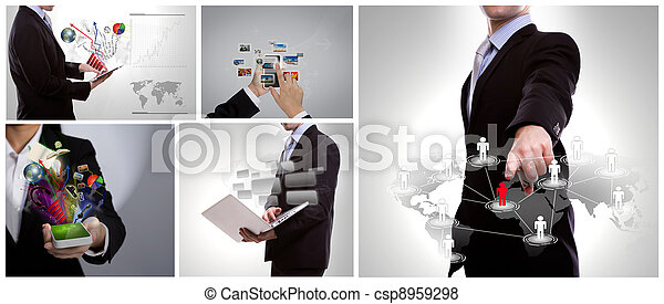 Collection of business people - csp8959298