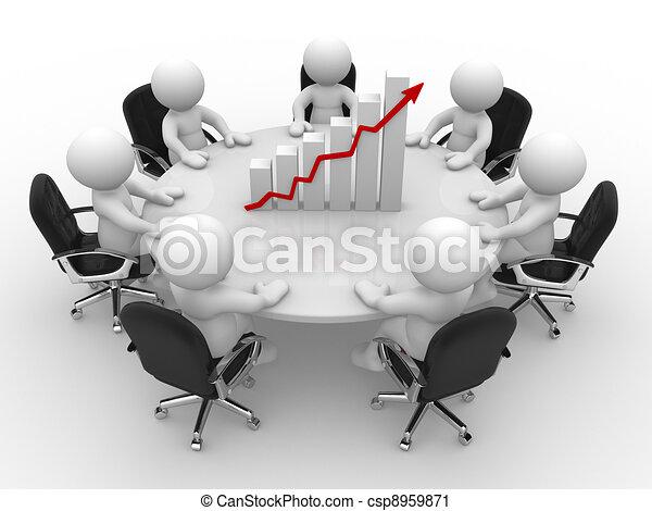 Financial chart - csp8959871