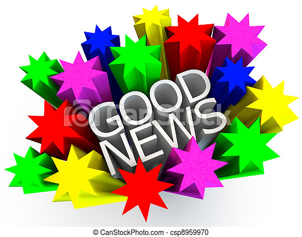 Good News Clip Art Good News surrounded byGreat News Clipart