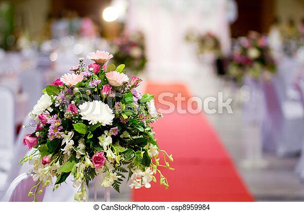 Rose flower on the wedding