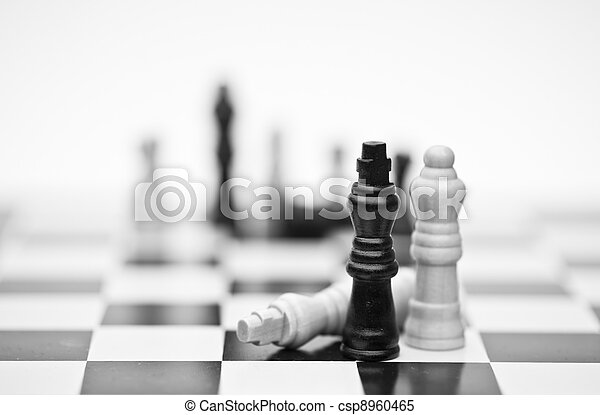 Chess game of strategy business concept application - csp8960465