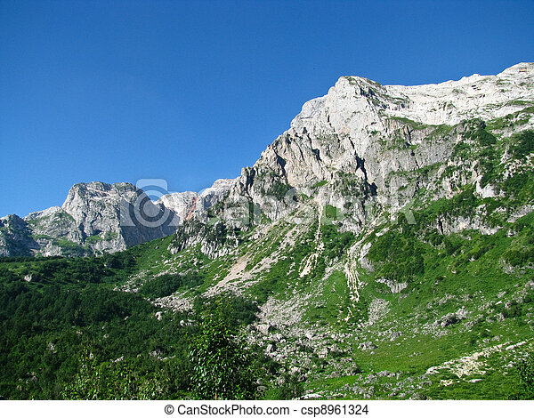 The magnificent mountain scenery of the Caucasus Nature Reserve - csp8961324