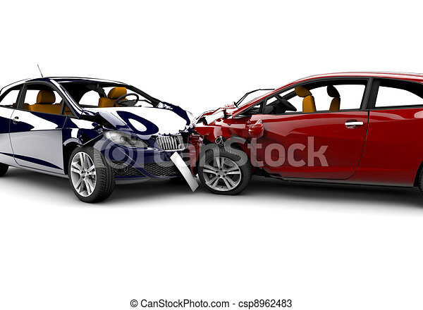 Accident with two cars - csp8962483