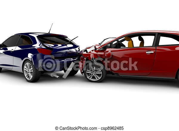 Accident with two cars - csp8962485