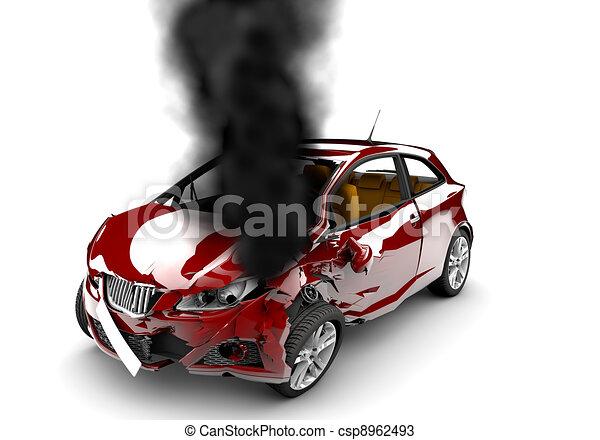 Red car burn - csp8962493
